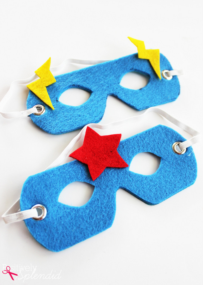 No-Sew Superhero Masks with Free Templates #MakeAmazing