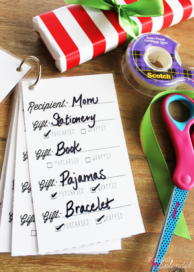 Reusable Gift Organizer with Free Printables #MakeAmazing