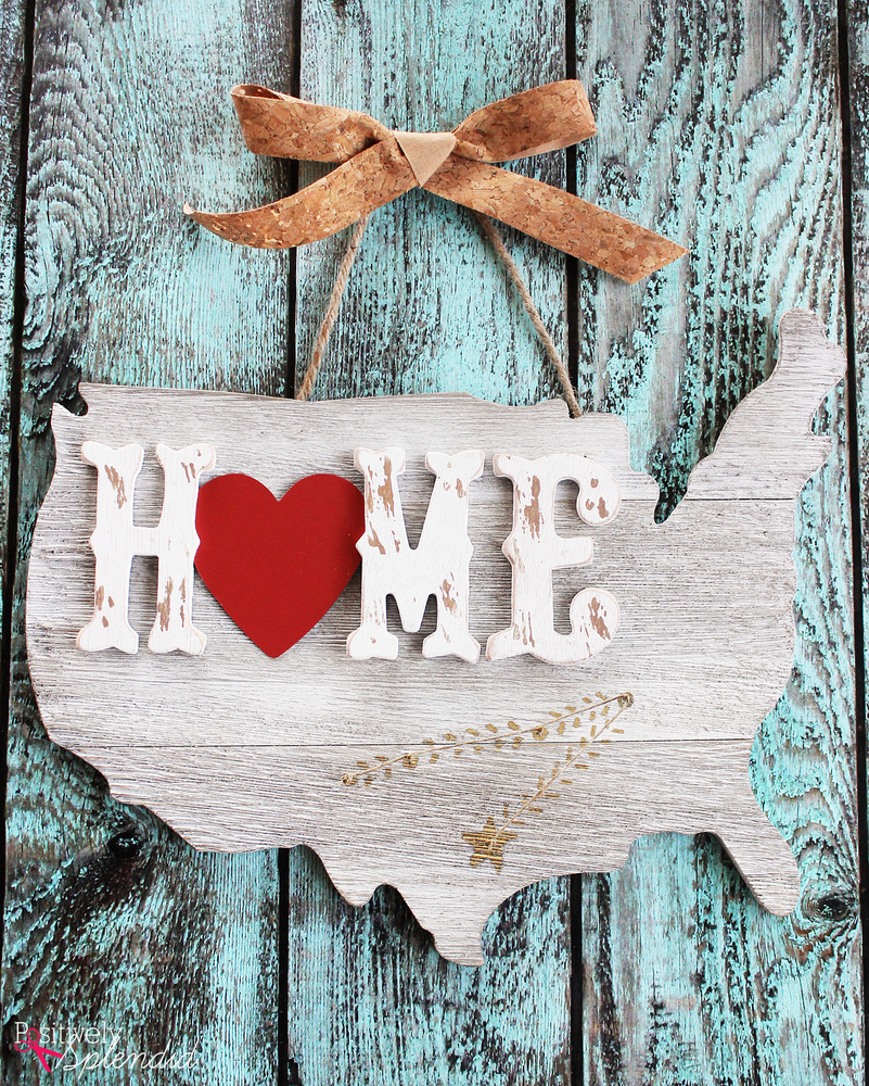 United States Home String Art - A great way to display all of the places you've lived! #MichaelsMakers
