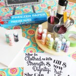 Host a Painting Party at Home + DIY Lettered Canvas Sign