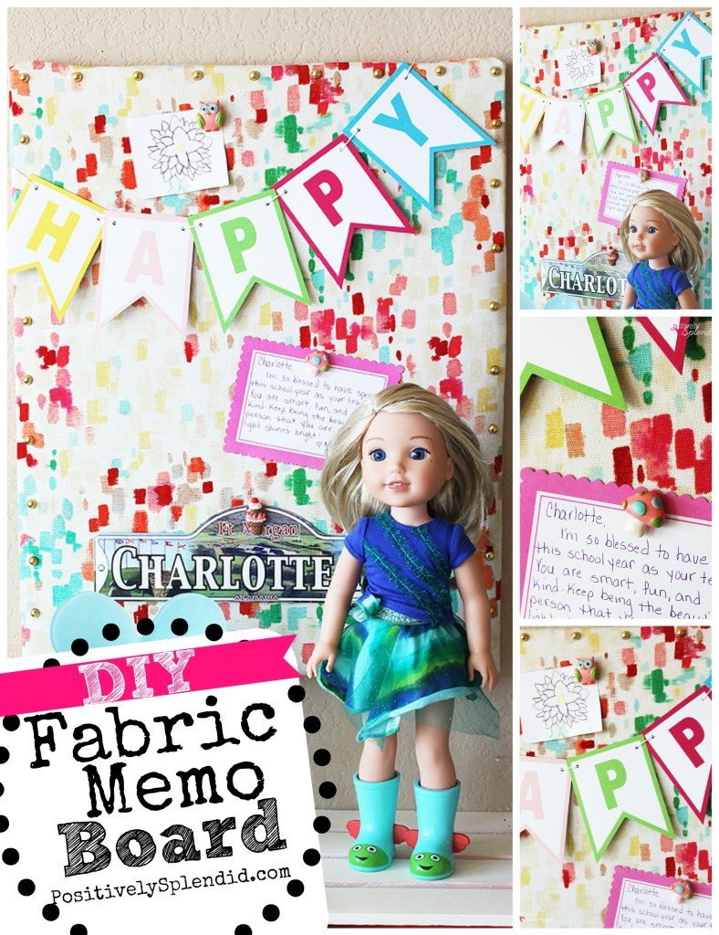 DIY Fabric Memo Board Tutorial at Positively Splendid