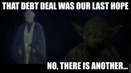 That debt deal was our last nope. No, there is another