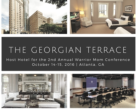 Book your room for the warrior mom conference for The terrace book