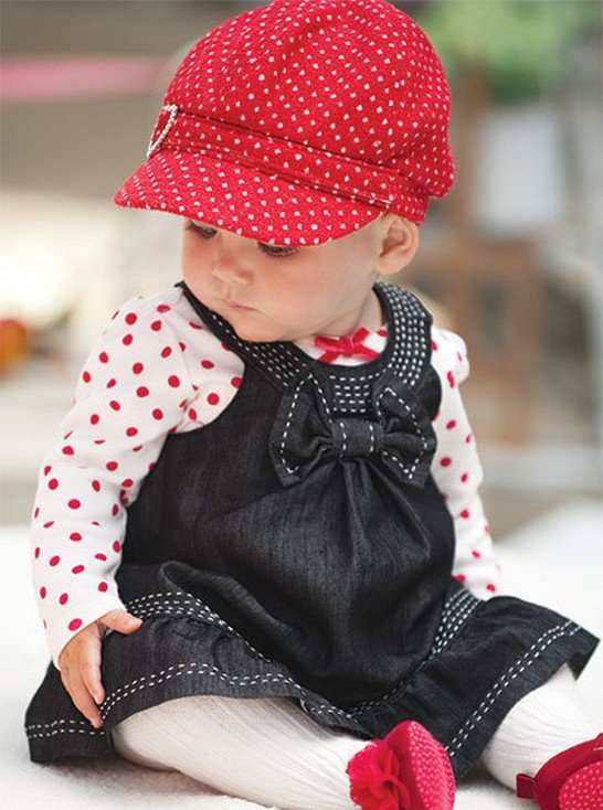 in Stylish Collection Of Winter Dresses For Baby Girls