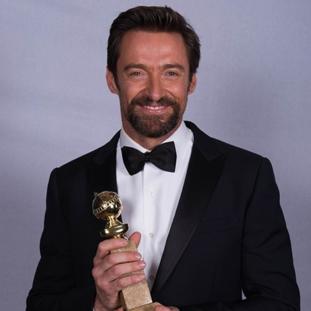 GO-hugh-jackman-Golden-Globes-Award The 10 Most Famous Male Actors in 2013 Awards