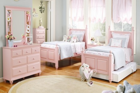girls bedroom ideas in blush pink finishing by wildon home