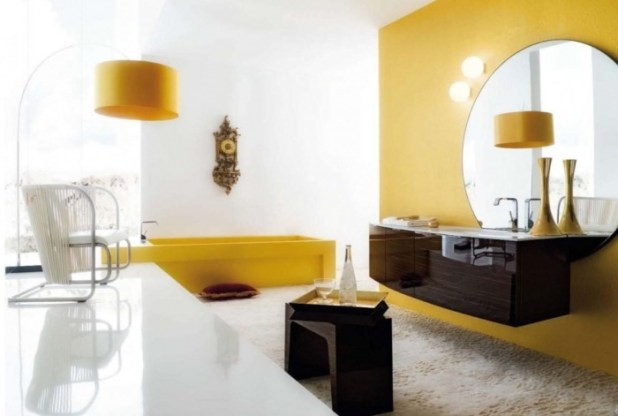 5_white-yellow_room_inspiration_bathroom What Are the Latest Home Decor Trends?