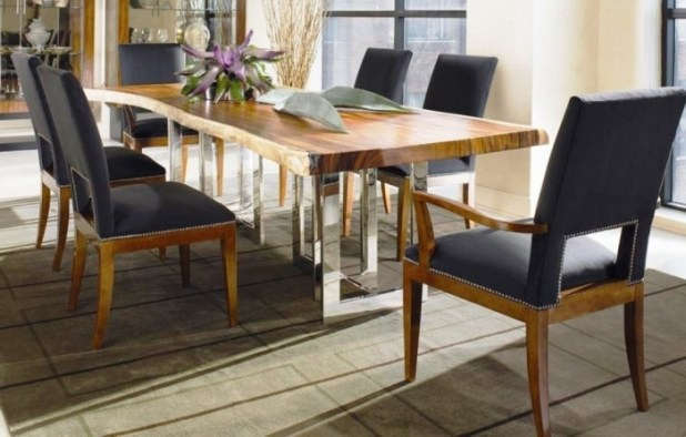 Modena-rect-dining-table-and-chairs.-Thicker-table-top-leaf-raised-on-burnishes-steel-chrome-framing-legs-this-table-complete-with-two-captain-chairs-and-four-side-chairs Discover the Furniture Trends for 2014