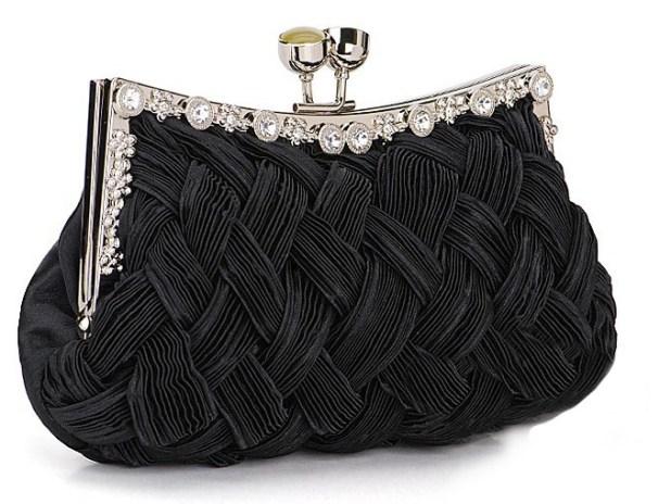 2254BKBraided-Evening-Clutch-Purse-Black 50 Fabulous & Elegant Evening Handbags and Purses