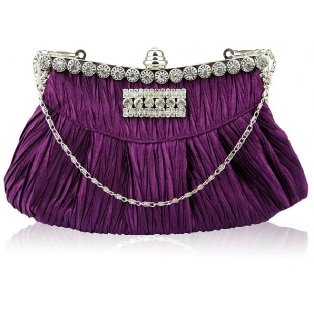 purple_pleated_evening_bag 50 Fabulous & Elegant Evening Handbags and Purses