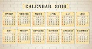 64 Breathtaking 2016 Printable Calendar Templates