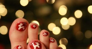 45 Lovely Christmas Toenail Art Design Ideas 2017
