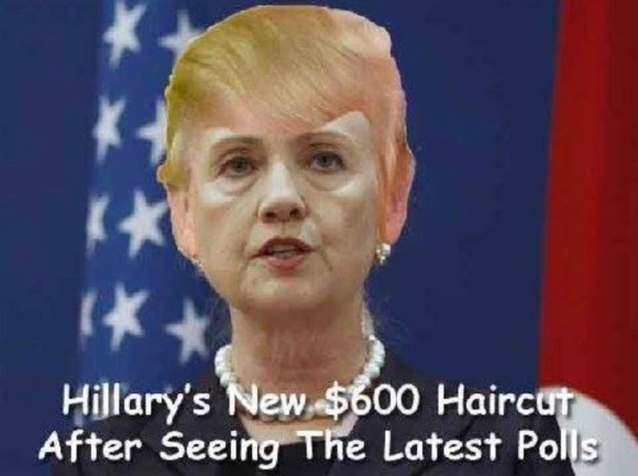 Hillary's haircut copy