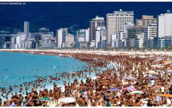 Science explains why you don't see many people on the beach in Rio. Who can think about sex when it's hot?