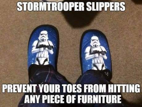 Storm Trooper Slippers