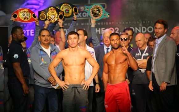 Golovkin is on the left.