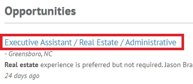 Real Estate Job Search Results 2
