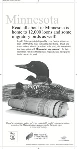 Minnesota may have a lot of loons, but you're not loony if you read the newspaper!