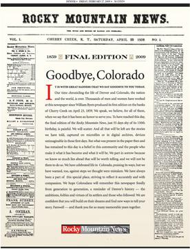 Rocky Mountain News' final edition, from JDNA's 'How the Denver Public Library ended up owning the Rocky Mountain News archive'