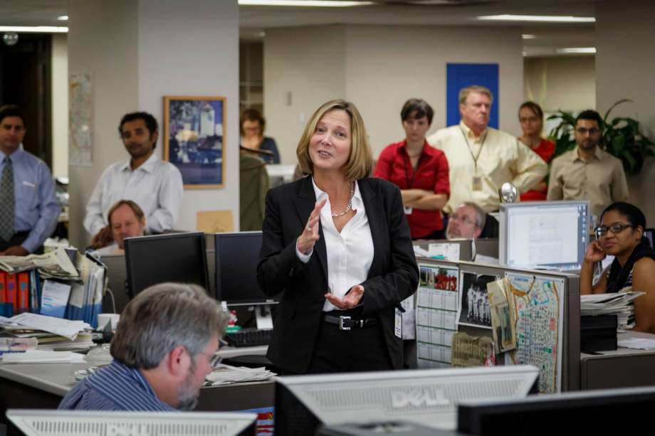 Nancy Barnes at the Houston Chronicle on September 18, 2013. (Photo by Michael Paulsen, Houston Chronicle)