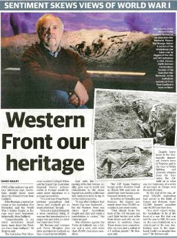 Sunday Times - 26 Jun 2016 p37 David Bailey - Western Front our heritage