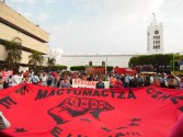"""Chiapas: """"Ni perdón ni olvido"""", a 11 meses de la desaparición de estudiantes de Ayotzinapa Guerrero."""