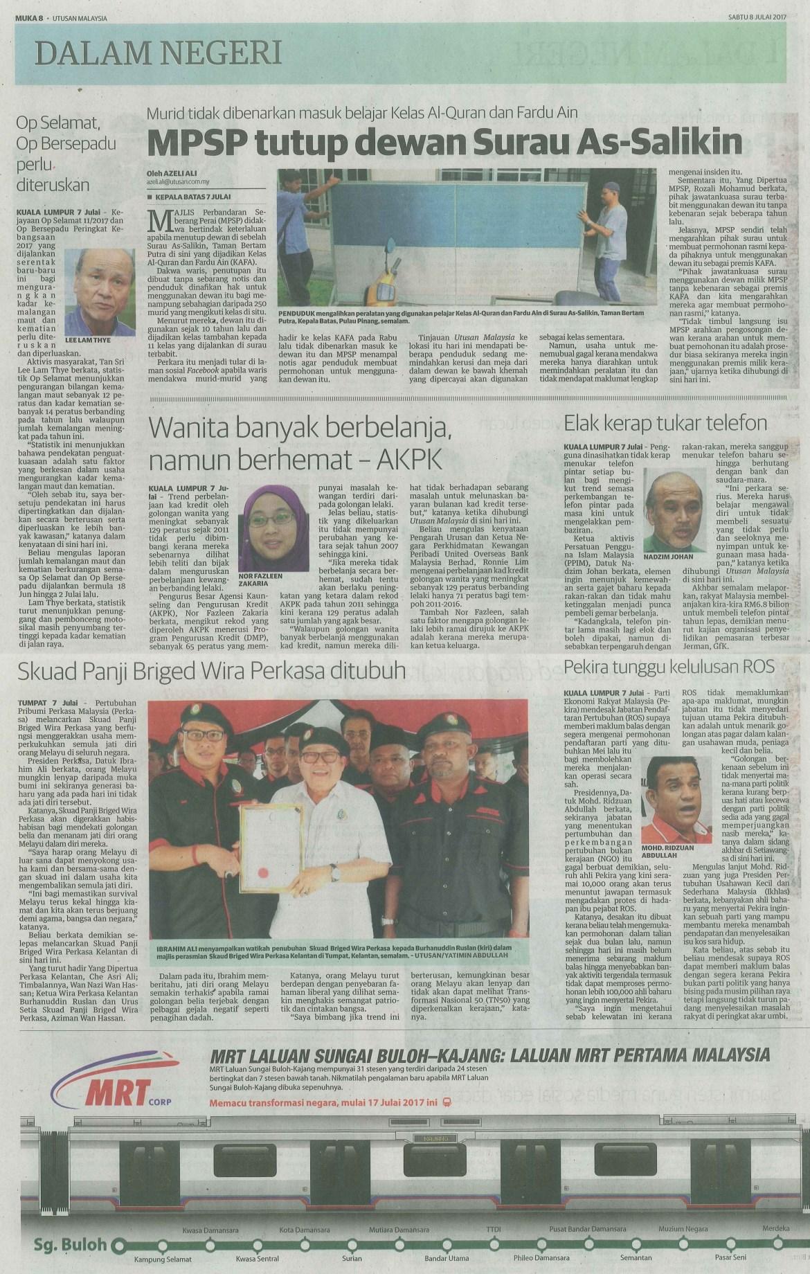 UTUSAN MALAYSIA 8.7.2017