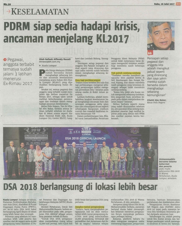 berita harian 26.7.2017
