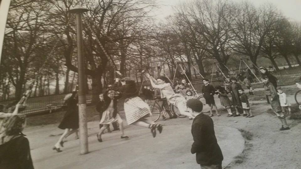 Kids Swinging on a maypole illustrating article about the book Piggy Monk Square by Grace Jolliffe