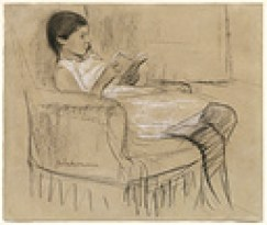 woman reading illustrating a post about an author's choice of books.