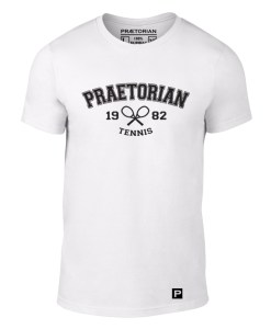 tricou Praetorian Tenis alb solo