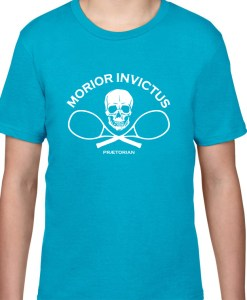 Tricou pentru copii Praetorian Morior Invictus - albastru