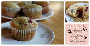 Soft and Simple Berries and Cream Muffins
