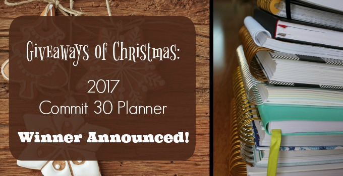 WINNER ANNOUNCED :: Giveaways of Christmas :: Commit 30 Planner