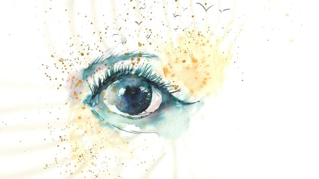 Eye painted in watercolours