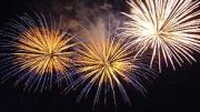 fireworks marking new year 2009 celebration