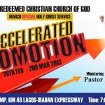 Transcript of March 2013 Holy Ghost Service – ACCELERATED PROMOTION