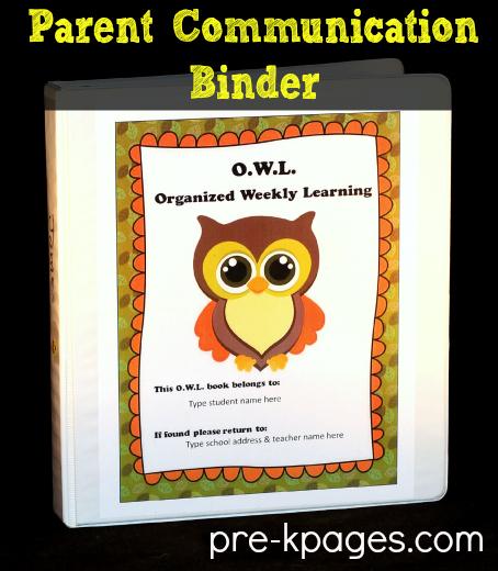 Elementary Classroom Themes ~ Parent communication pre k preschool kindergarten