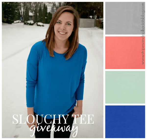 slouchy tee giveaway