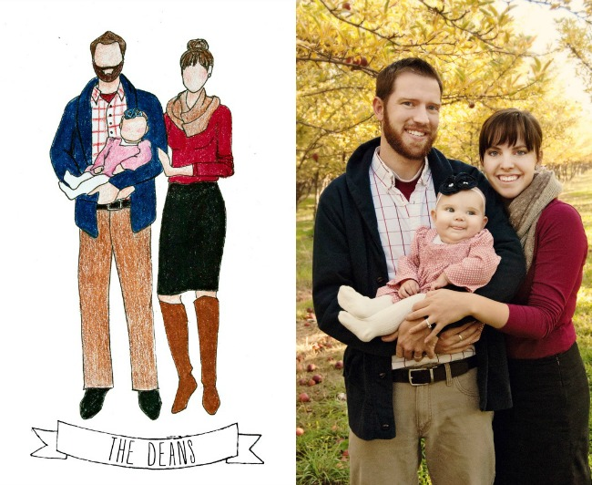 Dean Family Illustration