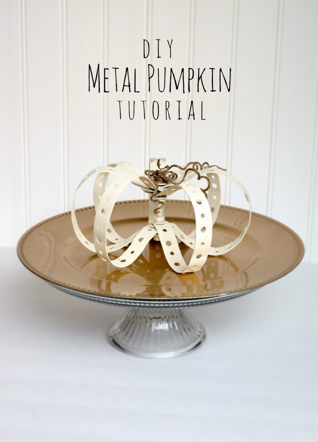 Metal Pumpkin Tutorial | by Preciously Paired | under $5