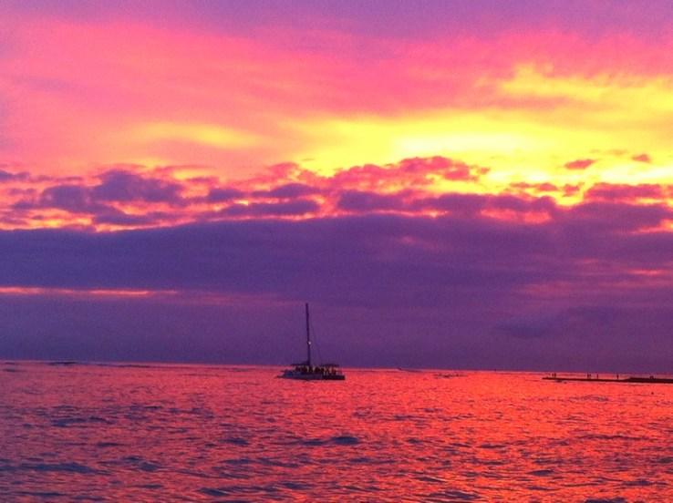 Hawaii me deu de presente pores-do-sol inesquecíveis!