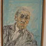 Miloš Crnjanski na slici Petra Omčikusa