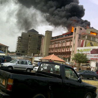 BREAKING NEWS: Abuja's most popular furniture house, Alibert, on fire