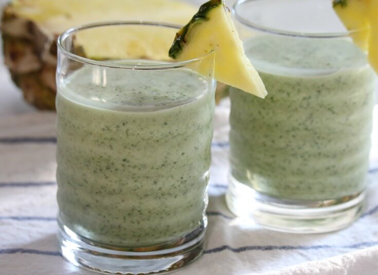 Nutrient Dense Kale Pineapple Smoothie