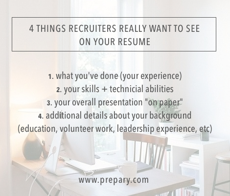 what recruiters really want to see on your resume