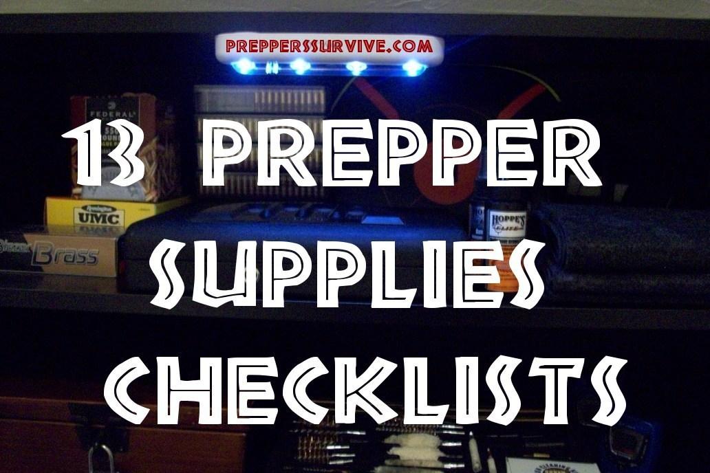 Prepper Supply Checklist Pinterest