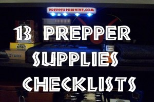 Prepper Supply Checklist Pinterest
