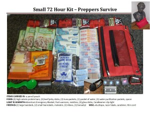 Small 72 Hour Kit Printable