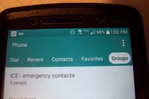 how to set emergency contacts on android - Step 1